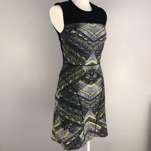 KENNETH COLE Black & Neon Snake Bodycon Dress 2